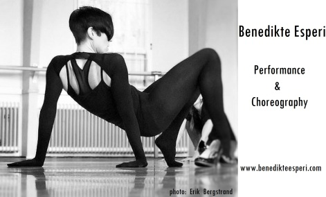 Benedikte Esperi Performance & Choreography photo: Erik Bergstrand